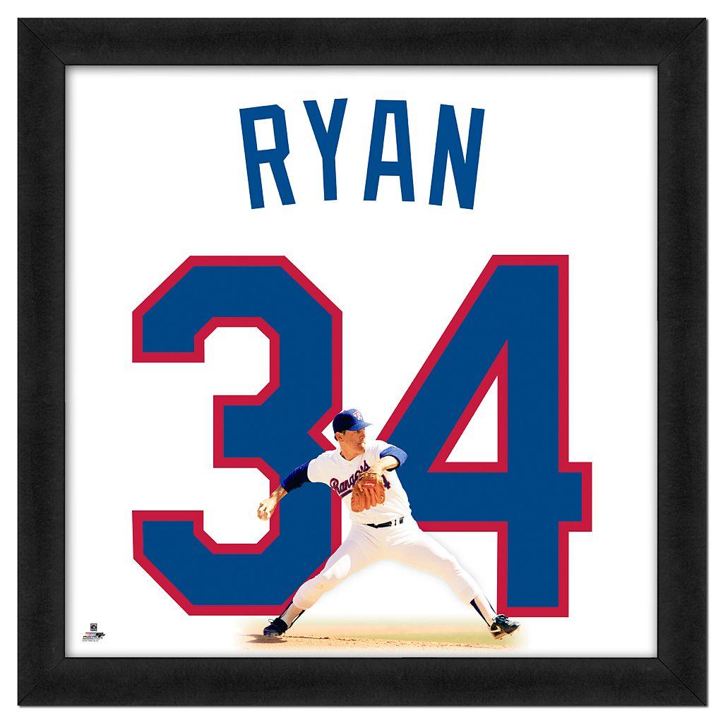 Nolan Ryan Framed Jersey Photo