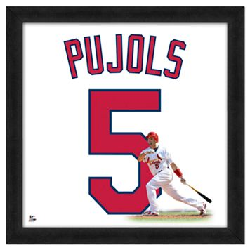 Albert Pujols Framed Jersey Photo