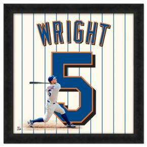 David Wright Framed Jersey Photo