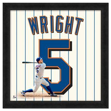 David Wright Framed Jersey Photo