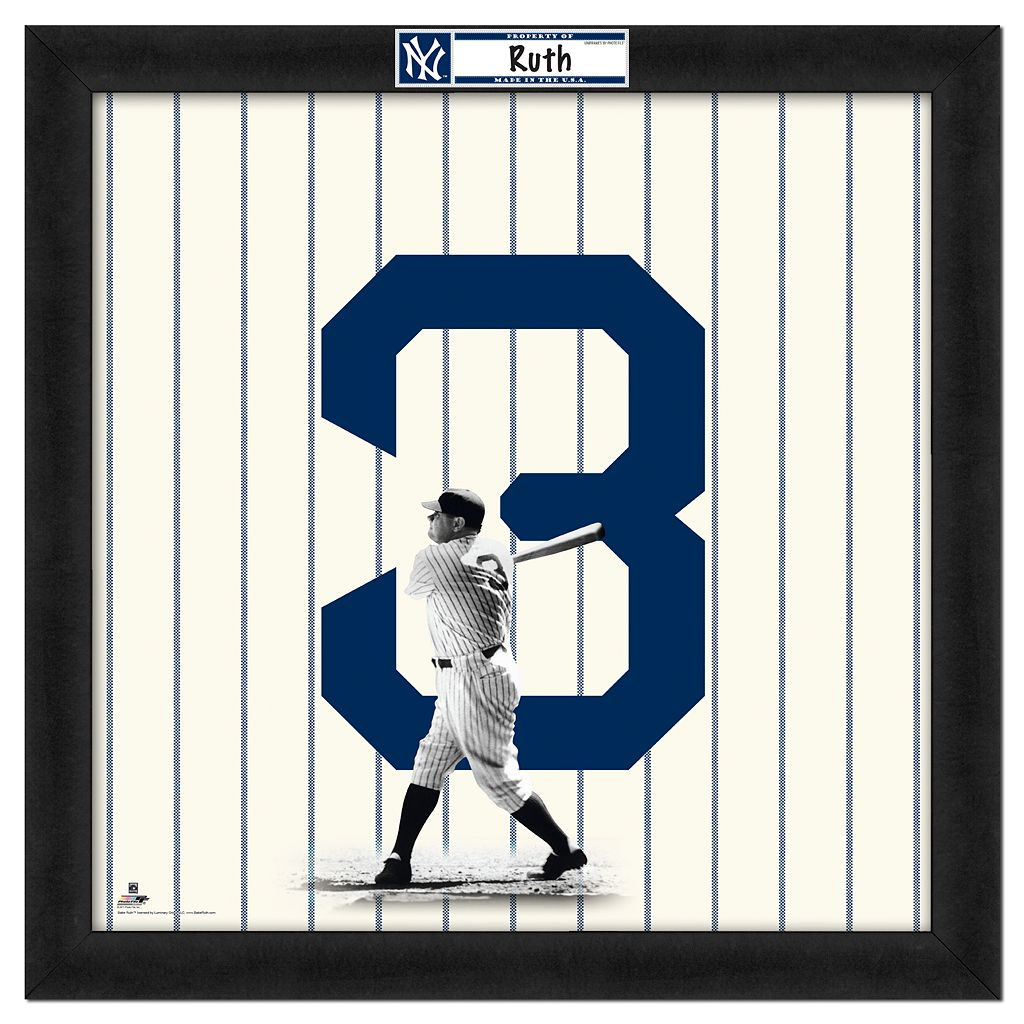 Babe Ruth Framed Jersey Photo