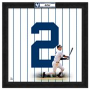 Derek Jeter Framed Jersey Photo