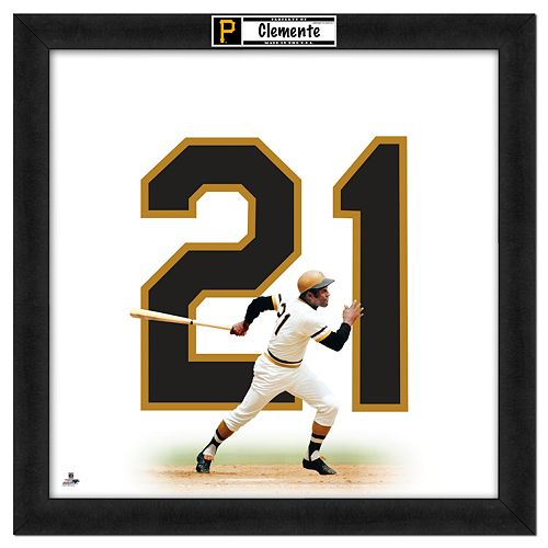 Roberto Clemente Framed Jersey Photo