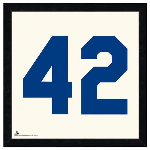 Jackie Robinson Framed Jersey Photo