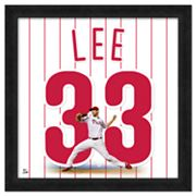 Cliff Lee Framed Jersey Photo