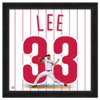 Cliff Lee Framed Jersey Photo