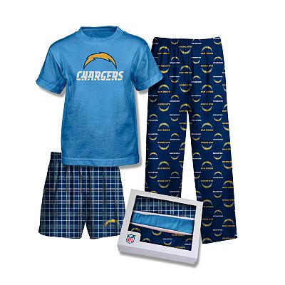 San Diego Chargers 3-pc. Pajama Set - Boys 8-20