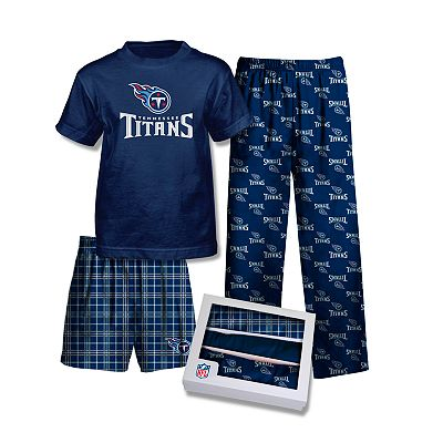 Reebok Tennessee Titans 3-pc. Pajama Set - Boys 8-20