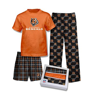 Cincinnati Bengals 3-pc. Pajama Set - Boys 8-20