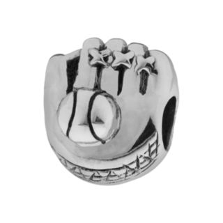 Individuality Beads Sterling Silver Baseball Mitt Bead