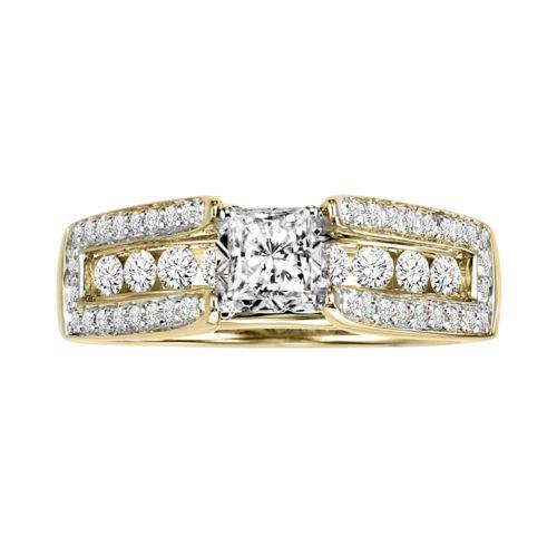 Cherish Always Princess-Cut Diamond Engagement Ring in 10k Gold (1 ct. T.W.)