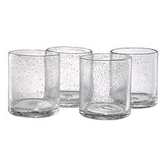 Artland Iris 4 pc Double Old-Fashioned Glass Set