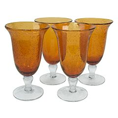 Artland Iris 4 pc Footed Iced Tea Glass Set