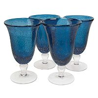 Artland Iris 4 pc Footed Iced Tea Glass Set