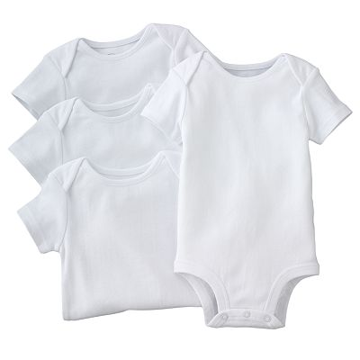 First Moments 4-pk. Solid Bodysuits - Baby