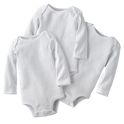 First Moments 3-pk. Solid Bodysuits - Baby