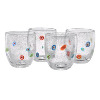 Artland Fiore 4-pc. Double Old-Fashioned Glass Set