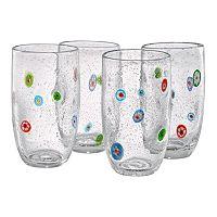 Artland Fiore 4-pc. Highball Glass Set