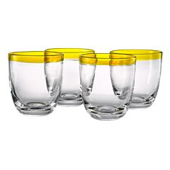 Artland Festival 4 pc Double Old-Fashioned Glass Set