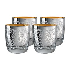 Artland Brocade 4 pc Double Old-Fashioned Glass Set