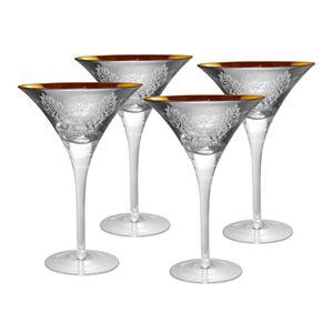 Artland 50939B Iris Margarita Glass 8 oz Plum