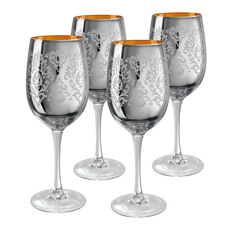 Artland Brocade 4-pc. Wine Glass Set, Grey