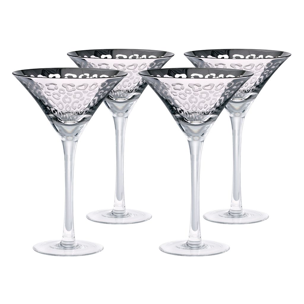 Artland Leopard 4-pc. Martini Glass Set