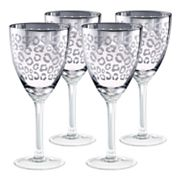 Artland Leopard 4 pc Wine Glass Set