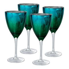 Artland Peacock 4 pc Wine Glass Set