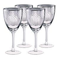 Artland Zebra 4 pc Wine Glass Set