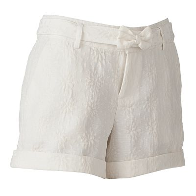 ELLE Cuffed Jacquard Shorts