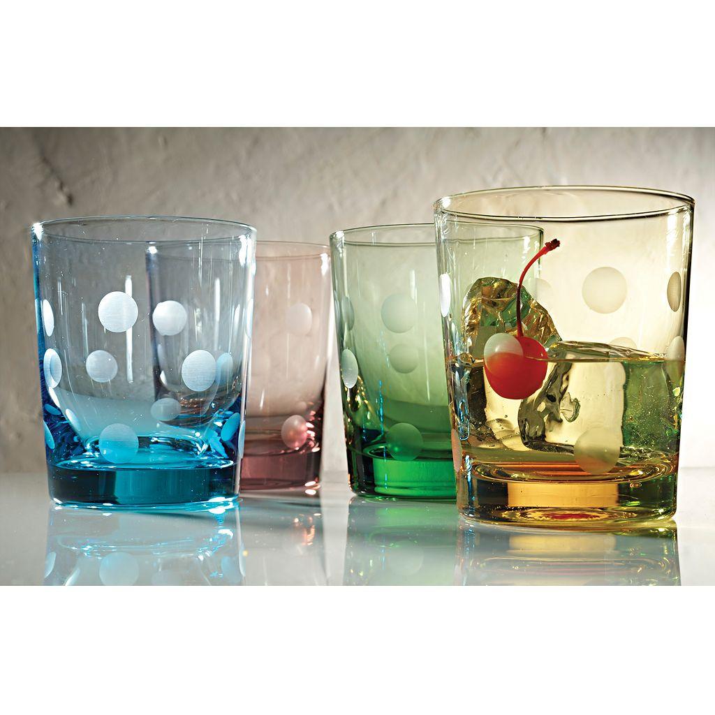Artland Polka-Dot 4-pc. Double Old-Fashioned Glass Set