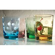 Artland Polka-Dot 4-pc. Double Old-Fashioned Glass Set