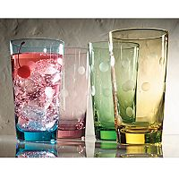 Artland Polka-Dot 4 pc Highball Glass Set
