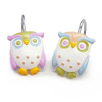 Allure Home Creations Awesome Owls 12 pkShower Curtain Hooks