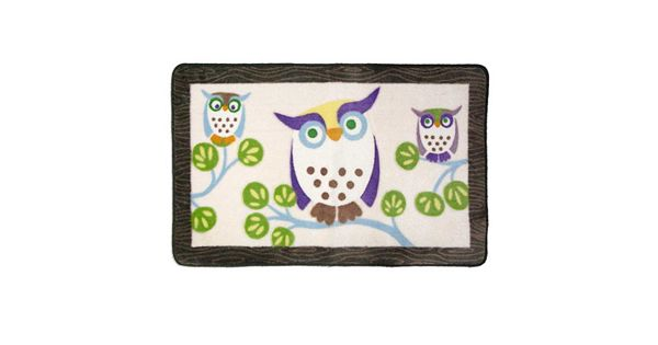 Bath Creations: Allure Home Creations Awesome Owls Bath Rug