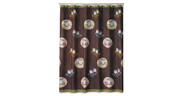 Owl Kitchen Decor Walmart: Allure Home Creations Awesome Owls Fabric Shower Curtain