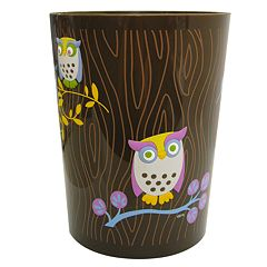 Allure Home Creations Awesome Owls Wastebasket by