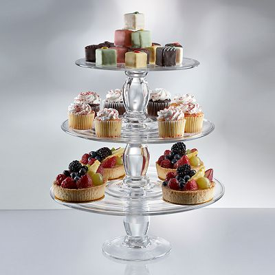 Artland Simplicity 3-pc. Stacking Cake Plate Set