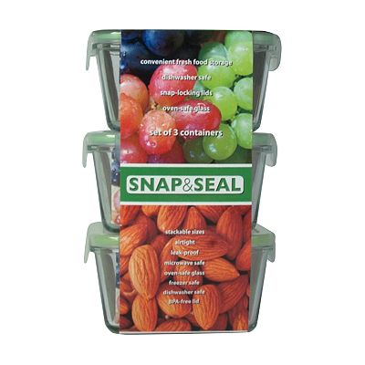 Artland Snap and Seal 3-pc. Square Storage Set