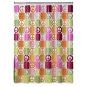 Allure Home Creations Peace Out Vinyl Shower Curtain