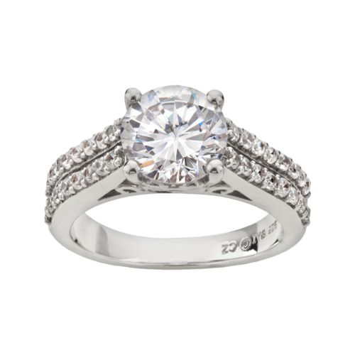 DiamonLuxe Sterling Silver 4 1/4-ct. T.W. Simulated Diamond Ring
