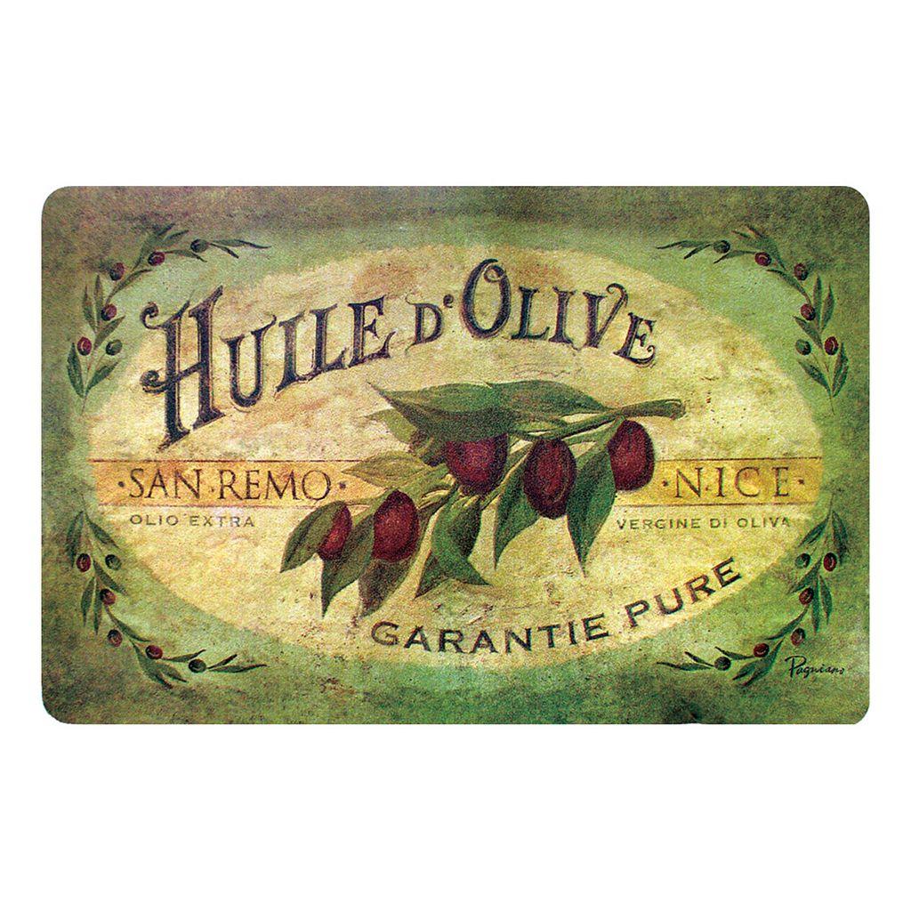 Vintage Olive Oil Kitchen Mat