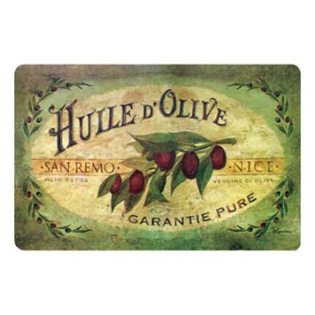 Vintage Olive Oil Kitchen Mat