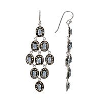 Le Vieux Marcasite & Glass Sterling Silver Chandelier Earrings - Made with Swarovski Marcasite
