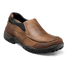 Nunn Bush Portage Men's Moc Toe Casual Slip-On Shoes
