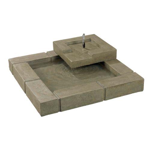 Belgian Block Floor Fountain - Outdoor