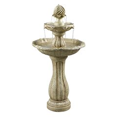Click here to buy Arcade Outdoor Solar Floor Fountain.