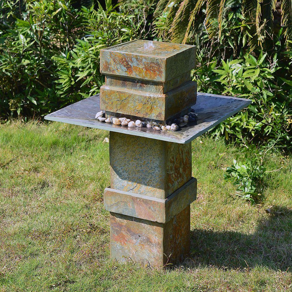 Cubist Floor Fountain - Outdoor