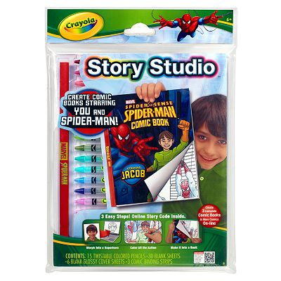 Spider-Man Story Studio Comic Maker by Crayola